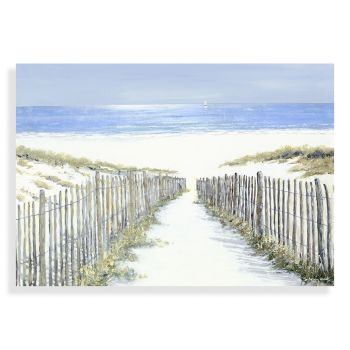 Beach artwork. Seaside art. Art from the ocean. Ocean art. Sand picture. Art sale. White Sands Print AC1244 This Printed Canvas is an exceptional piece of artwork. On standard depth canvas (38mm), Artist Anthony Waller creates masterful imagery of sand dunes rolling onto a beach. The realisim of the sea and environment seduces any eyes that glance upon it. Beautifully finished and truly capturing the essence of nature, this print is an exceptional piece for your home. just trio justtrio artmarketing art marketing