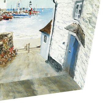 Beach artwork. Seaside art. Art from the ocean. Ocean art. Sand picture. Art sale. Harbour House Print AC1529 This Printed Canvas is an exceptional piece of artwork. On standard depth canvas (38mm), Artist Anthony Waller creates masterful imagery of a local harbour town. The realisim of the sea and environment seduces any eyes that glance upon it. Beautifully finished and truly capturing the essence of nature, this print is an exceptional piece for your home. just trio justtrio artmarketing art marketing