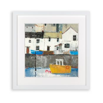 Art picture. New picture. Picture sale. Artwork for home. Abstract art. Harbour Bay Picture AF3782 This contemporary, abstract piece by Sabrina Roscino is an excellent display of artwork. Perfect for a hallway, bedroom, or living room, this will be sure to brighten your home. A fantastic take on a harbour town. justtrio just trio artmarketing art marketing