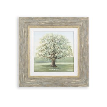 Framed print. Tree painting. Tree art. Nature artwork. Art sale. Small Mighty Oak Print AF3824 This framed print is an exceptional piece of artwork. Unglazed with hand embellished texture, Artist Anthony Waller creates masterful imagery of the forever-beautiful Oak Tree. The presence of the tree is overpowering and seduces any eyes that glance upon it. Beautifully finished and truly capturing the essence of nature, this print is an exceptional piece for your home.  justtrio just trio artmarketing art marketing