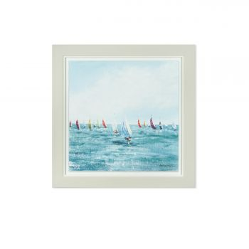 Art Marketing Balancing Act Print FAC1WKT30042. This deluxe glazed framed print is an excellent piece of art. Featuring stunning of boats at sea, this art would be perfect for someone who loves the ocean!