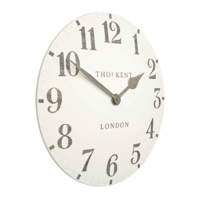 "Thomas Kent Arabic Limestone Clock 20"""