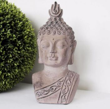Biggie Best Large Buddha Ornament 22F021. Our beautiful Buddha ornaments are crafted from cement and individually unique, perfect for indoor or outdoor use. Add a taste of the east to your home!
