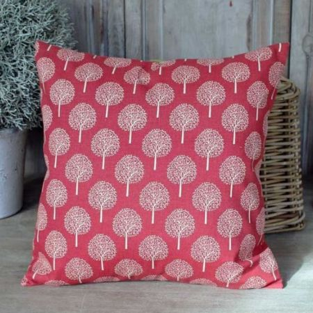Trees Dark Coral Cushion