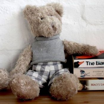 Biggie Best Sammy Teddy Bear  BKY1AGA5. This elegant teddy bear is a gorgeous keepsake for your children or grandchildren. A stunning teddy to keep forever!