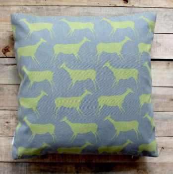 Biggie Best Green and Grey Rock Painting Cushion. Add some character to your home with this delightful cushion.