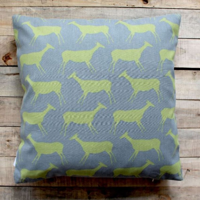 Biggie Best Green and Grey Rock Painting Cushion