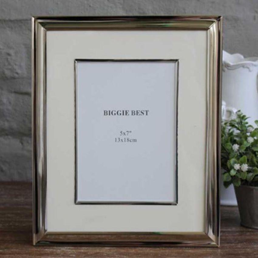 Biggie Best Large Nickel Photo Frame with Edged Mount