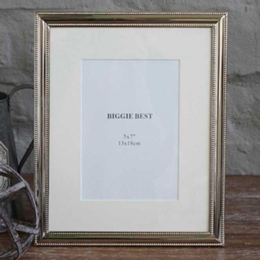 Biggie Best Large Lauren Nickel Photo Frame
