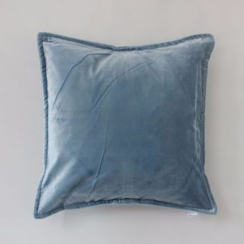Biggie Best Ice Blue Velvet Cushion. Bring a pop of colour and a touch of luxury into your home with this gorgeous blue velvet cushion.