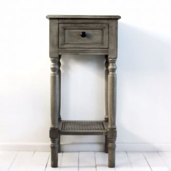 Biggie Best Dark Grey Venice Occasional Table. Perfectly simple and stylish table with beautifully designed turned wood legs. Would make a beautiful display unit for any room.
