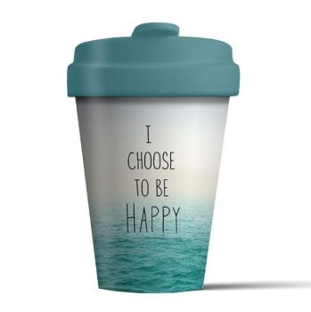 Chic Mic Choose Happy Bamboo Cup BCP250. Have a look at this beautiful eco-friendly coffee cup.