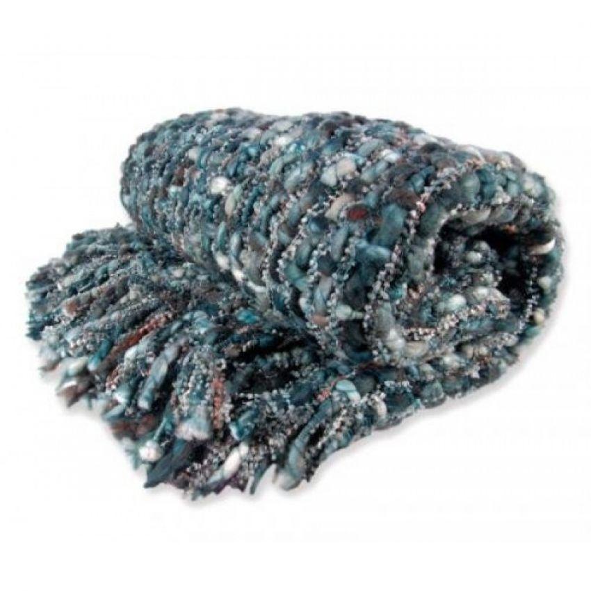 Chunky Knit Throw- Teal