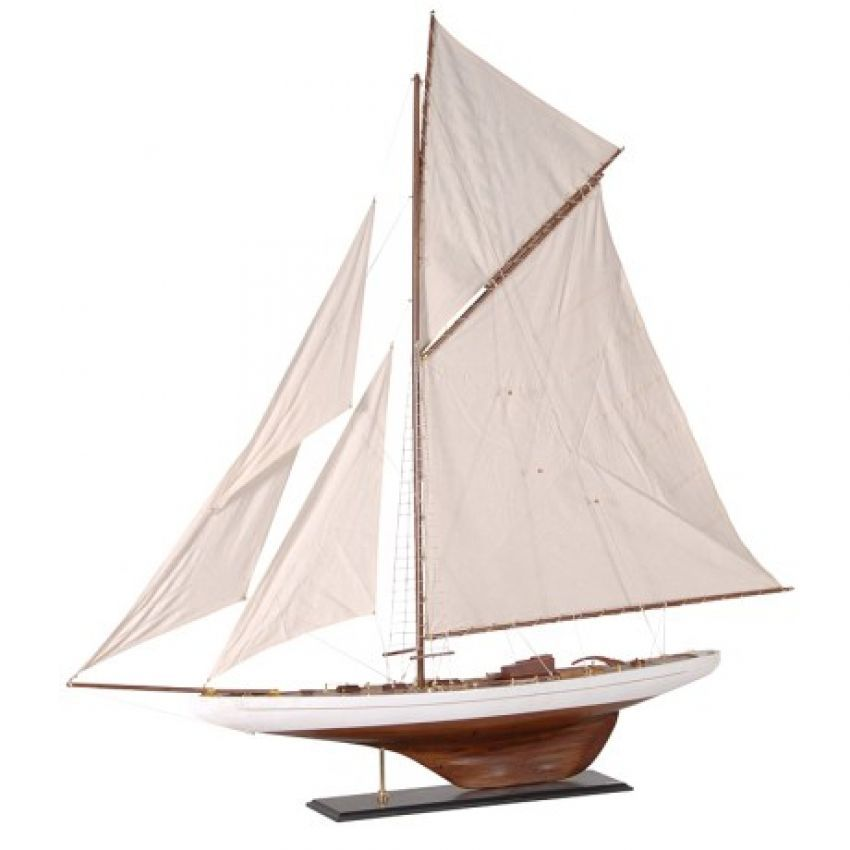 Large Wooden Sailboat Yacht