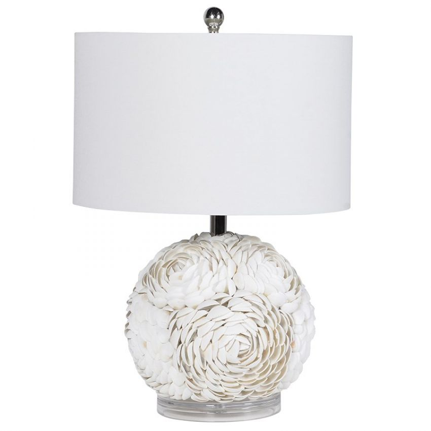 Shell Table Lamp With Shade