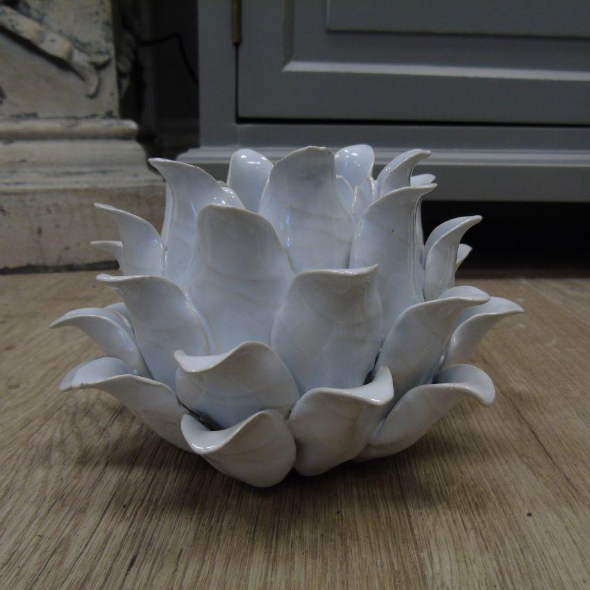 White Flower Tealight Holder