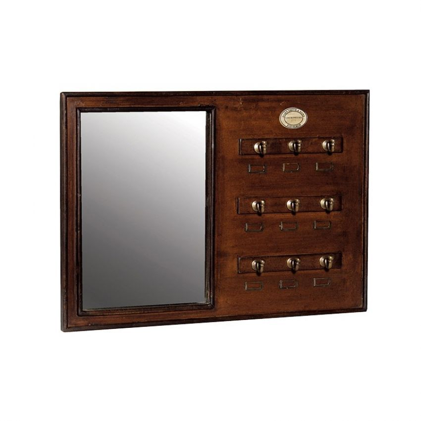 Cloakroom Mirror with Hooks