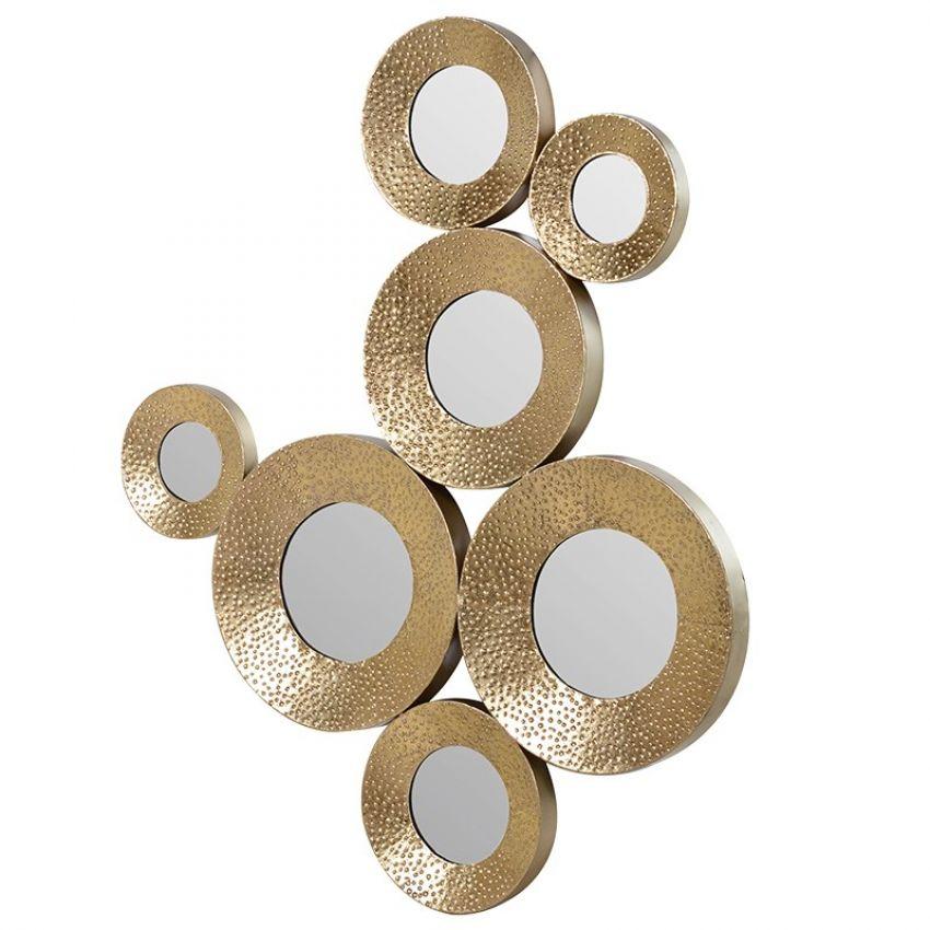Gold Circles Wall Decoration Mirror