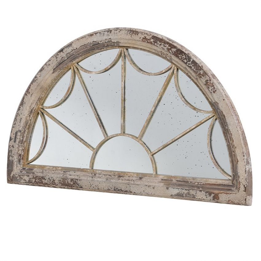 Distressed Fan Light Mirror