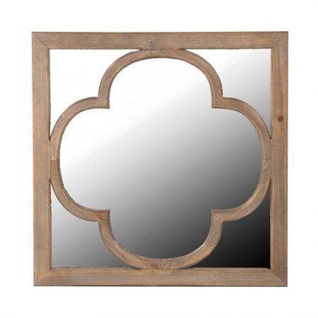 Wooden Relief Mirror