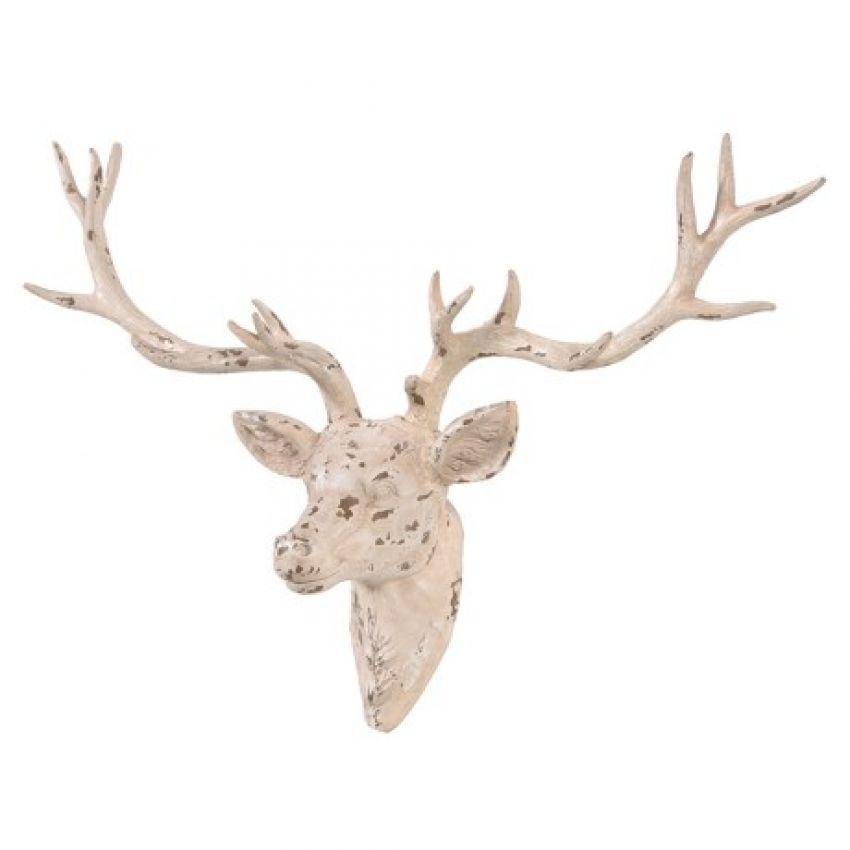 Distressed Deer Head Ornament