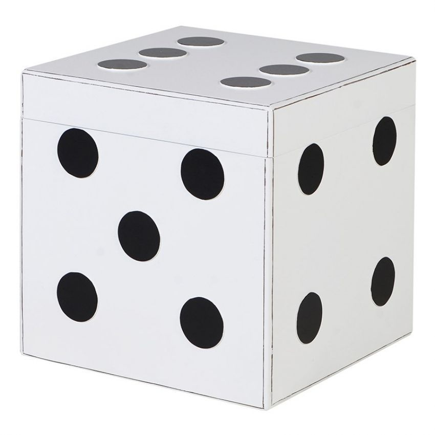 White Dice Storage Box