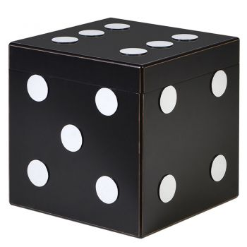 Justtrio barnstaple store. Barnstaple furniture shop. Fun home accessories UK sale. Cheap storage box UK sale.Teenager chest of drawers uk. Black Dice Storage Box MYC013 This brilliantly quirky storage box will bring you all the luck in the world! Themed like a dice, this piece will bring personality to any room.