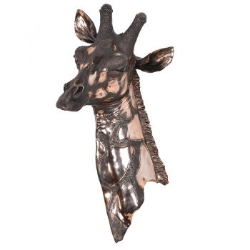 New wall art for home. Wall hanging. Copper Giraffe Head Wall Hanger NAN146 No home will look as unique as yours with this brilliant Giraffe Wall Hanger sitting within! A fantastically finished ornament that brings personality to your house, no matter which wall it sits upon. Giraffe ornament. New animal ornament for the home. This ornament brings an exceptional detailing to the house. Looking for deer alternative. New nature wall art. Good wall art. justtrio just trio coachhouse coach house