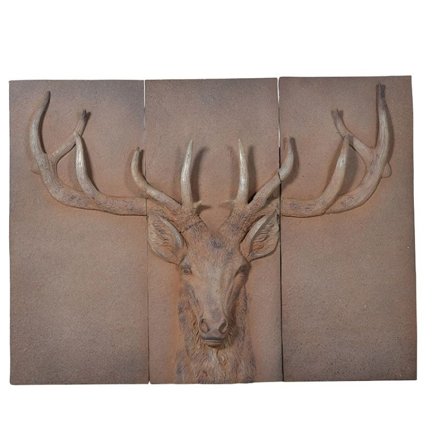 Stag's Head Wall Plaque