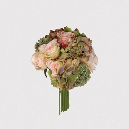 Rose Hydrangea Seed Head Posy Flowers