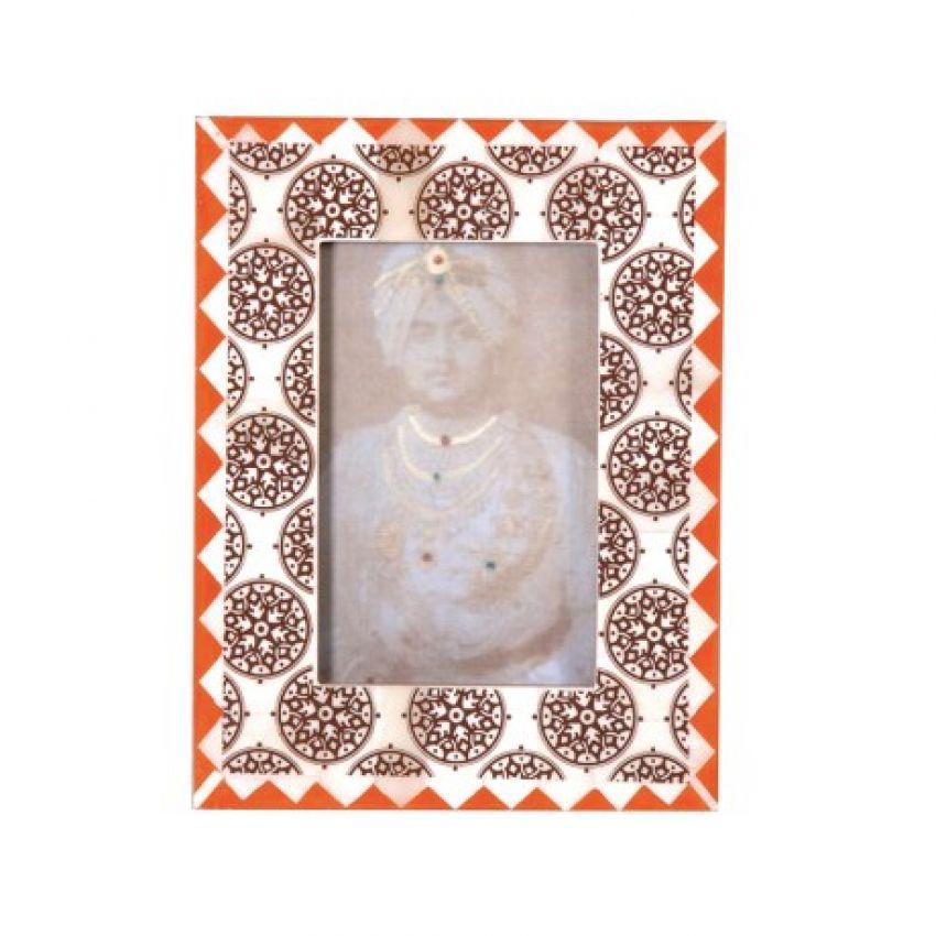 Orange & Black Patterned Photoframe
