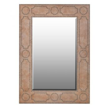 New mirror. Mirror sale. Brass Studded Mirror ZHK017 This extraordinary mirror is bold and beautiful. The studs add to its splendor and are sure to attract your attention at all times. A fantastic size to fill an empty wall in your hallway or living room. justtrio just trio coachhouse coach house