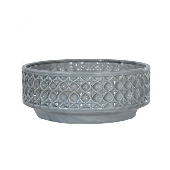 Blue Pattern Bowl CMH058. This gorgeous ceramic blue pattern bowl is a great centrepiece for a dining table or mantel piece. The blue glaze is stunning.
