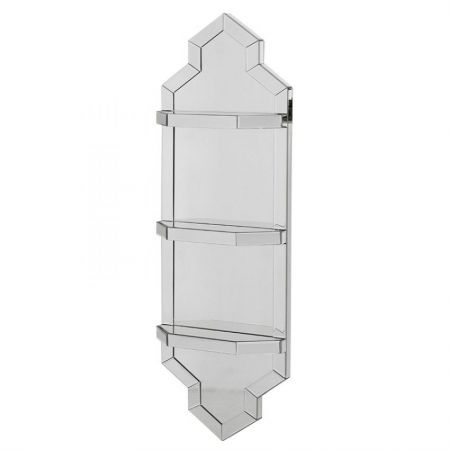 Mirrored Shelf Wall Unit