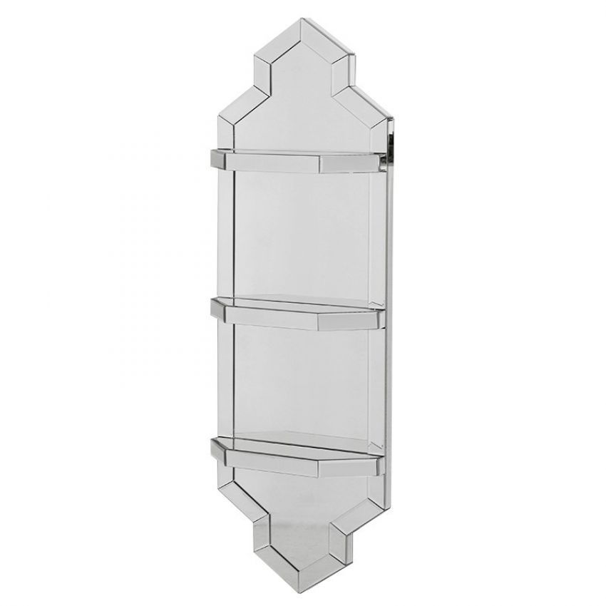 Mirrored Shelf Wall Unit