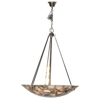 Marble Effect Ceiling Light ELK060. This stunning marble effect ceiling light hangs gorgeously above your dinner table. The marble effect glistens beautifully and it looks magnificent.