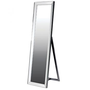 Floor Standing Silver Mirror GYD001.  This floor standing mirror adds the final touches to your bedroom. With a soft grey frame, this will blend beautifully into your room.