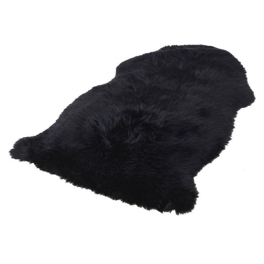 Black Sheepskin Rug