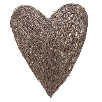 Extra Large Wicker Wall Heart LLH015. This wicker wall heart can bring some love to your home! Have it on display in your bedroom or conservatory.