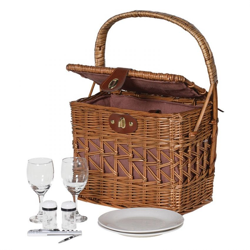 Willow Picnic Set with Wine Bottle Holders