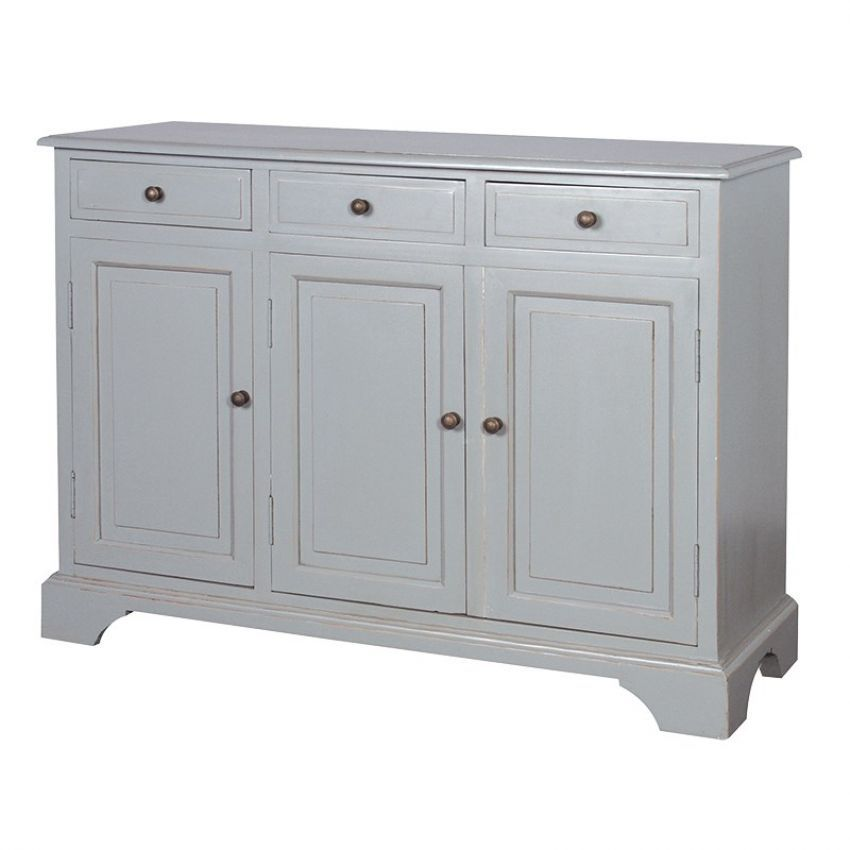 Grey Fayence 3 Door Sideboard