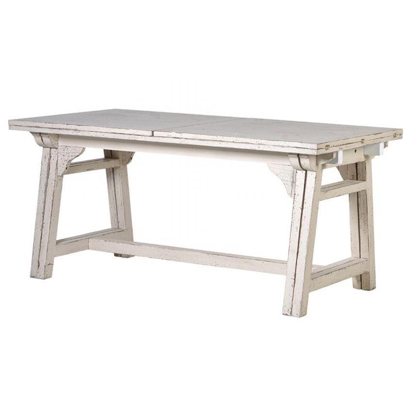 Whitewash Extending Dining Table