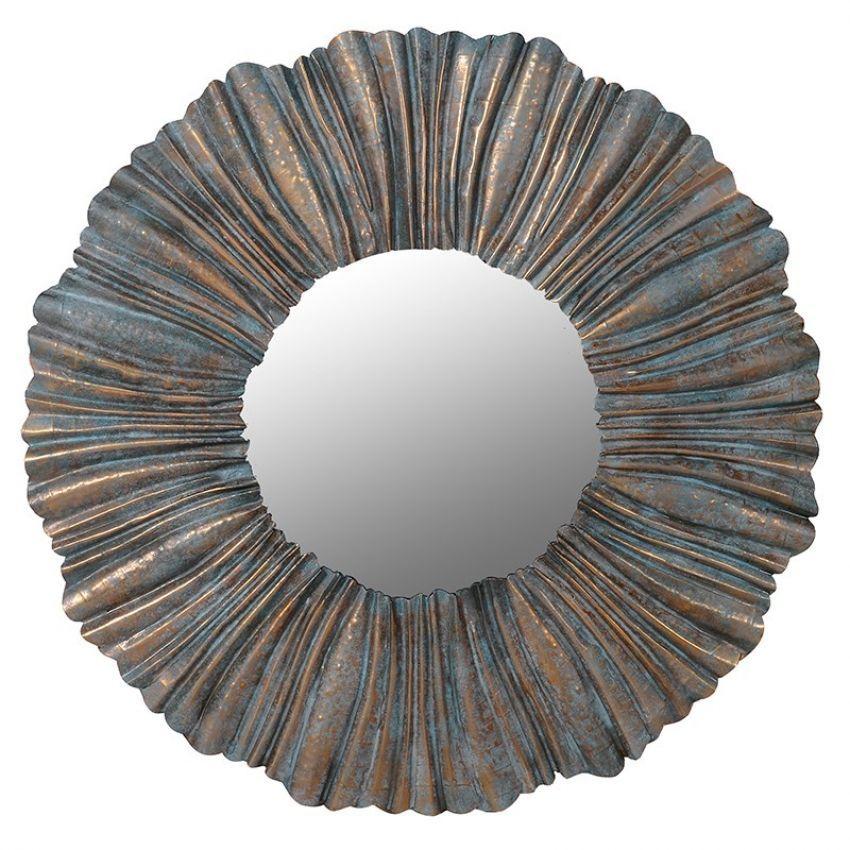 Pleated Wall Mirror