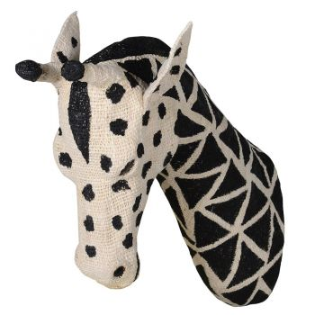 Large Cotton Giraffe Head PMC001. Our gorgeous cotton giraffe head is brand new and a stunning feature piece for your wall. A brilliant take on the traditional wall decorations. Soft and delightful! Perfect for a bedroom or living room.