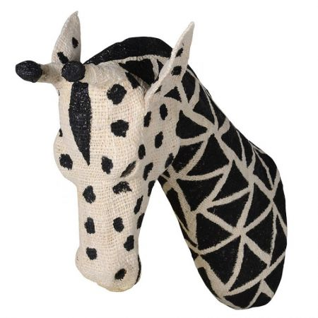 Large Cotton Giraffe Head