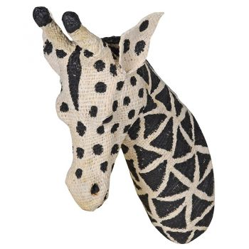 Small Cotton Giraffe Head PMC002. Our gorgeous cotton giraffe head is brand new and a stunning feature piece for your wall. A brilliant take on the traditional wall decorations. Soft and delightful! Perfect for a bedroom or living room.