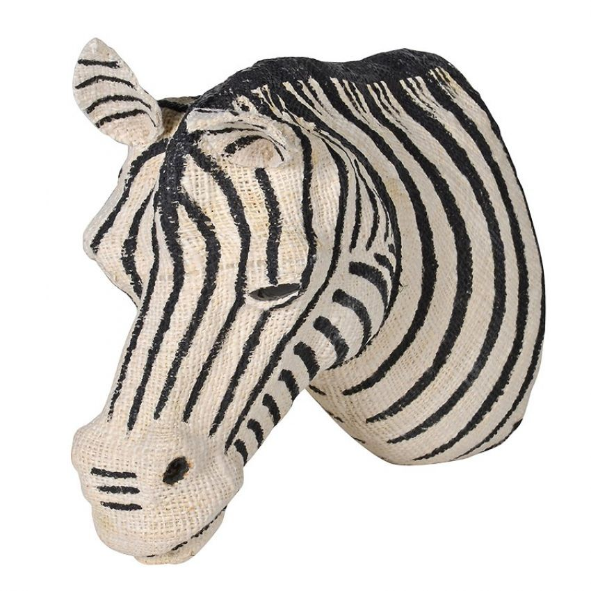 Large Cotton Zebra Head