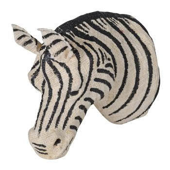 Small Cotton Zebra Head PMC004. Our gorgeous cotton zebra head is brand new and a stunning feature piece for your wall. A brilliant take on the traditional wall decorations. Soft and delightful! Perfect for a bedroom or living room.