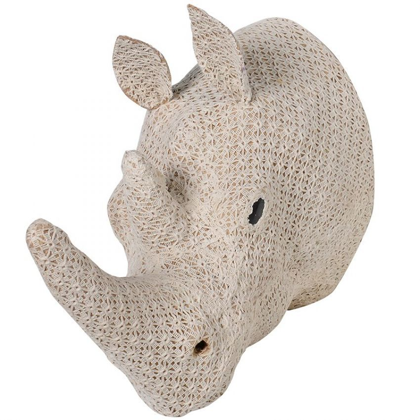 Large Crochet Rhino Head