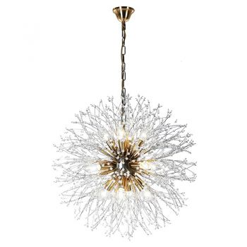 Starlight Chandelier RLZ111. This chandelier brings an explosive look to your home. With stunning detail and an excellent bursting effect, this brings light to your room in an extraordinary way!